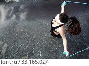 Sportive jumping. Стоковое фото, фотограф Dmitriy Shironosov / PantherMedia / Фотобанк Лори