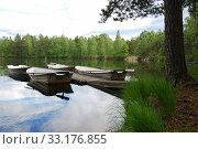 Купить «Peaceful lake view», фото № 33176855, снято 10 июля 2020 г. (c) PantherMedia / Фотобанк Лори