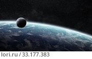 Купить «Sunrise over planet Earth in space», фото № 33177383, снято 16 июля 2020 г. (c) PantherMedia / Фотобанк Лори