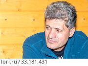 Купить «Portrait of a handsomely tired elderly man.», фото № 33181431, снято 28 сентября 2019 г. (c) Акиньшин Владимир / Фотобанк Лори