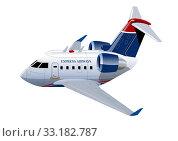 Купить «Cartoon Commercial Airplane», иллюстрация № 33182787 (c) Александр Володин / Фотобанк Лори