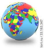 Eastern Hemisphere on the globe. Стоковое фото, фотограф Tomas Griger / PantherMedia / Фотобанк Лори