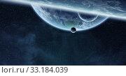 Купить «Sunrise over planet Earth in space», фото № 33184039, снято 16 июля 2020 г. (c) PantherMedia / Фотобанк Лори