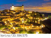 Купить «Toledo at dusk Spain», фото № 33184575, снято 22 февраля 2020 г. (c) PantherMedia / Фотобанк Лори