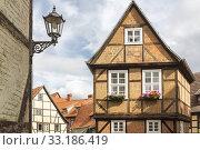 Renovated half-timbered house in Quedlinburg,Harz,Saxony-Anhalt. Стоковое фото, фотограф Harald Biebel / PantherMedia / Фотобанк Лори