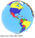 Western hemisphere on Earth. Стоковое фото, фотограф Tomas Griger / PantherMedia / Фотобанк Лори
