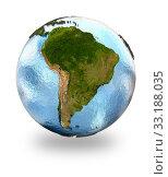 Купить «South America on Earth», фото № 33188035, снято 25 мая 2020 г. (c) PantherMedia / Фотобанк Лори