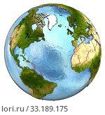 Купить «Europe and north America on Earth», фото № 33189175, снято 24 мая 2020 г. (c) PantherMedia / Фотобанк Лори