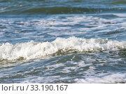 Купить «The white foam of the sea wave», фото № 33190167, снято 28 мая 2020 г. (c) PantherMedia / Фотобанк Лори