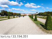 paths to Lower Palace in Belvedere garden, Vienna. Стоковое фото, фотограф Valery Vvoennyy / PantherMedia / Фотобанк Лори