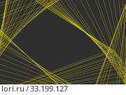 Купить «Beautiful horizontal abstract vector texture of yellow lines and grid on a gray background», иллюстрация № 33199127 (c) Татьяна Куклина / Фотобанк Лори
