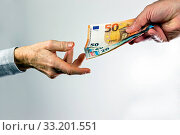 Купить «Bribery, personal cash contribution, corruption, money.», фото № 33201551, снято 29 декабря 2019 г. (c) easy Fotostock / Фотобанк Лори