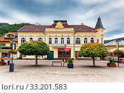 Stefania courtyard, spa town, Slovakia, Trencianske Teplice. Стоковое фото, фотограф Milan Perfecky / easy Fotostock / Фотобанк Лори