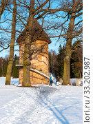 Купить «Пиль-башня. Павловск», эксклюзивное фото № 33202987, снято 8 марта 2019 г. (c) Александр Щепин / Фотобанк Лори