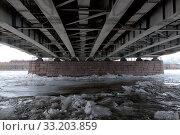 Купить «Лед на Неве под Литейным мостом. Санкт-Петербург», фото № 33203859, снято 13 февраля 2020 г. (c) Румянцева Наталия / Фотобанк Лори