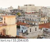 Купить «aerial view of Havana», фото № 33204635, снято 31 мая 2020 г. (c) PantherMedia / Фотобанк Лори
