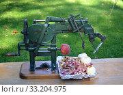 An antique apple peeler. Стоковое фото, фотограф Horst Petzold / PantherMedia / Фотобанк Лори