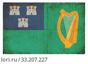 grunge flag city of dublin (ireland) Стоковое фото, фотограф Christian Müringer / PantherMedia / Фотобанк Лори