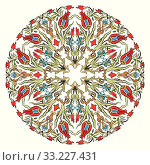 Купить «Antique ottoman turkish pattern vector design nine», иллюстрация № 33227431 (c) PantherMedia / Фотобанк Лори