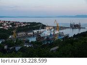 Купить «Croatia, Rijeka - MS Delphin at the Viktor Lenac shipyard», фото № 33228599, снято 21 мая 2016 г. (c) Caro Photoagency / Фотобанк Лори