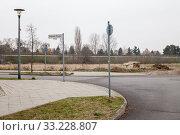 Купить «Fallow land in Haltoner Strasse in Berlin-Biesdorf», фото № 33228807, снято 25 ноября 2018 г. (c) Caro Photoagency / Фотобанк Лори