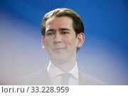 Купить «Berlin, Germany - Sebastian Kurz, Federal Chancellor of the Republic of Austria.», фото № 33228959, снято 3 февраля 2020 г. (c) Caro Photoagency / Фотобанк Лори