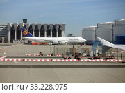 Frankfurt am Main, Germany, Lufthansa Boeing 747 at Frankfurt Airport (2019 год). Редакционное фото, агентство Caro Photoagency / Фотобанк Лори