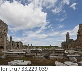 Ruins of Perga in Turkey with Hellenistic Gates. Стоковое фото, фотограф Scott Griessel / PantherMedia / Фотобанк Лори