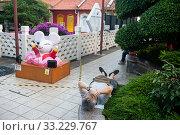 Купить «Singapore, Republic of Singapore, man sleeping in a small park in Chinatown», фото № 33229767, снято 23 января 2020 г. (c) Caro Photoagency / Фотобанк Лори