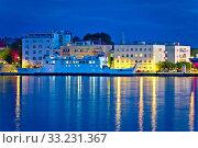 Купить «City of Zadar harbor blue evening», фото № 33231367, снято 29 февраля 2020 г. (c) PantherMedia / Фотобанк Лори