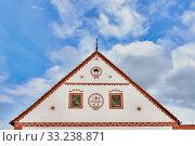 Czech Republic - UNESCO village Holasovice in South Bohemia - detail one old house. Стоковое фото, фотограф Miroslav Beneda / PantherMedia / Фотобанк Лори