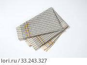 grey checkered dish towel. Стоковое фото, фотограф Alena Dvorakova / PantherMedia / Фотобанк Лори