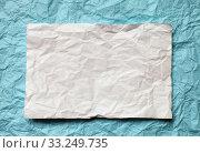 Купить «paper card on beige background», фото № 33249735, снято 29 февраля 2020 г. (c) PantherMedia / Фотобанк Лори