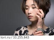 Купить «Gentle Japanese Woman Portrait», фото № 33255843, снято 29 февраля 2020 г. (c) PantherMedia / Фотобанк Лори