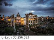Roman Forum at Sunset. Стоковое фото, фотограф Insung Choi / PantherMedia / Фотобанк Лори