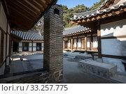 Купить «Ojukheon courtyard and house view. Taken in Gangneung,  South Korea.», фото № 33257775, снято 13 июля 2020 г. (c) PantherMedia / Фотобанк Лори