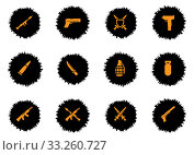 Купить «Weapon simply icons», фото № 33260727, снято 28 марта 2020 г. (c) PantherMedia / Фотобанк Лори