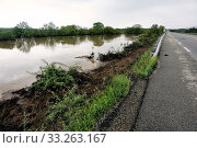 Купить «French landscape Cevennes flooded», фото № 33263167, снято 16 июля 2020 г. (c) PantherMedia / Фотобанк Лори