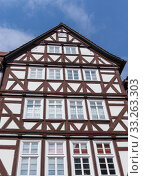 Front of an wonderful old half-timbered house in a village in Fritzlar, in Germany near Kassel in Hesse. Стоковое фото, фотограф Angela Rohde / PantherMedia / Фотобанк Лори