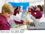 Sopot, Bulgaria - May 17, 2016: Arsenal workers are producing warheads in one of Bulgaria's arms factory. The facility produces and assembles rocket-propelled... Редакционное фото, фотограф Zoonar.com/Cylonphoto / age Fotostock / Фотобанк Лори