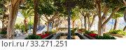 horizontal image pretty square footpath leading to Shrine to Virgin, Mijas, Spain (2019 год). Стоковое фото, фотограф Alexander Tihonovs / Фотобанк Лори
