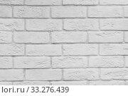 Купить «Abstract white brick wall texture for background.», фото № 33276439, снято 11 июля 2020 г. (c) easy Fotostock / Фотобанк Лори