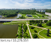 Victory Park and the central square in Zelenograd in Moscow, Russia (2018 год). Стоковое фото, фотограф Володина Ольга / Фотобанк Лори