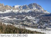 Cortina d'Ampezzo, Belluno, Veneto, Dolomites, Italy, Europe. Стоковое фото, фотограф Joana Kruse / age Fotostock / Фотобанк Лори