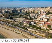 Aerial view of the spanish city of Tarragona. Spain (2019 год). Стоковое фото, фотограф Яков Филимонов / Фотобанк Лори