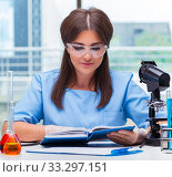 Young woman working in the laboratory. Стоковое фото, фотограф Elnur / Фотобанк Лори