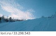 Купить «winter evening landscape», видеоролик № 33298543, снято 25 февраля 2020 г. (c) Jan Jack Russo Media / Фотобанк Лори