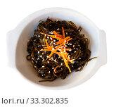 Japanese salad from seaweed. Стоковое фото, фотограф Яков Филимонов / Фотобанк Лори