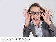 Купить «Businesswoman with a fun attitude», фото № 33316107, снято 9 апреля 2020 г. (c) PantherMedia / Фотобанк Лори