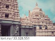 Купить «Beautiful architecture of historical building Sri Meenadchi Sundareswarar Temple in Galle», фото № 33328551, снято 16 марта 2019 г. (c) katalinks / Фотобанк Лори